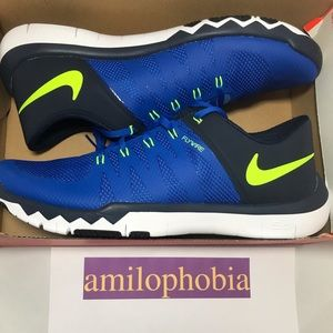 New Men's Nike Free Trainer 5.0 V6 Size 10 Blue